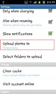 Confirm where Ubuntu One Files uploaded photos