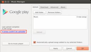 Google Play Music with warnings