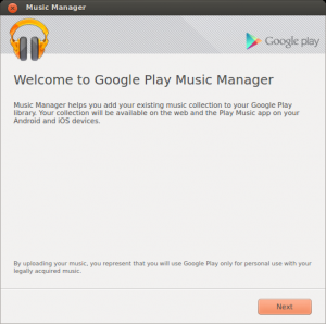 Welcome to Google Play Music Manager